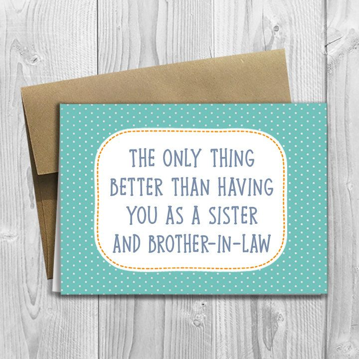 The only thing better than having you as a sister and brother in law - PRINTED Pregnancy Announcement 5x7 Card by DesignsLM on Etsy