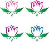 Clipart - sæt, i, lotus, blomster, logo, vektor k9534860 - Søg i clipart, fototapetillustrationer, tegninger og vector-grafikmotiver i EPS-format - k9534860.eps