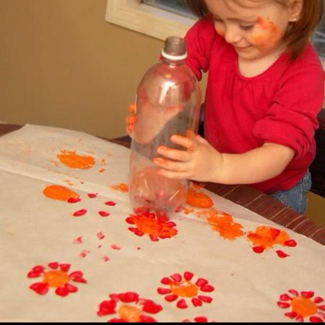 Bottle --> flowers