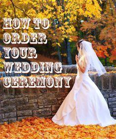 The Basic Order of a Wedding Ceremony. #Weddings Daisy-Days.com