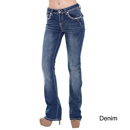 Sexy Couture Womens S95PB Mid Rise Flare Bottoms Boot Cut JeansDENIM1 ** Want additional info? Click on the image.