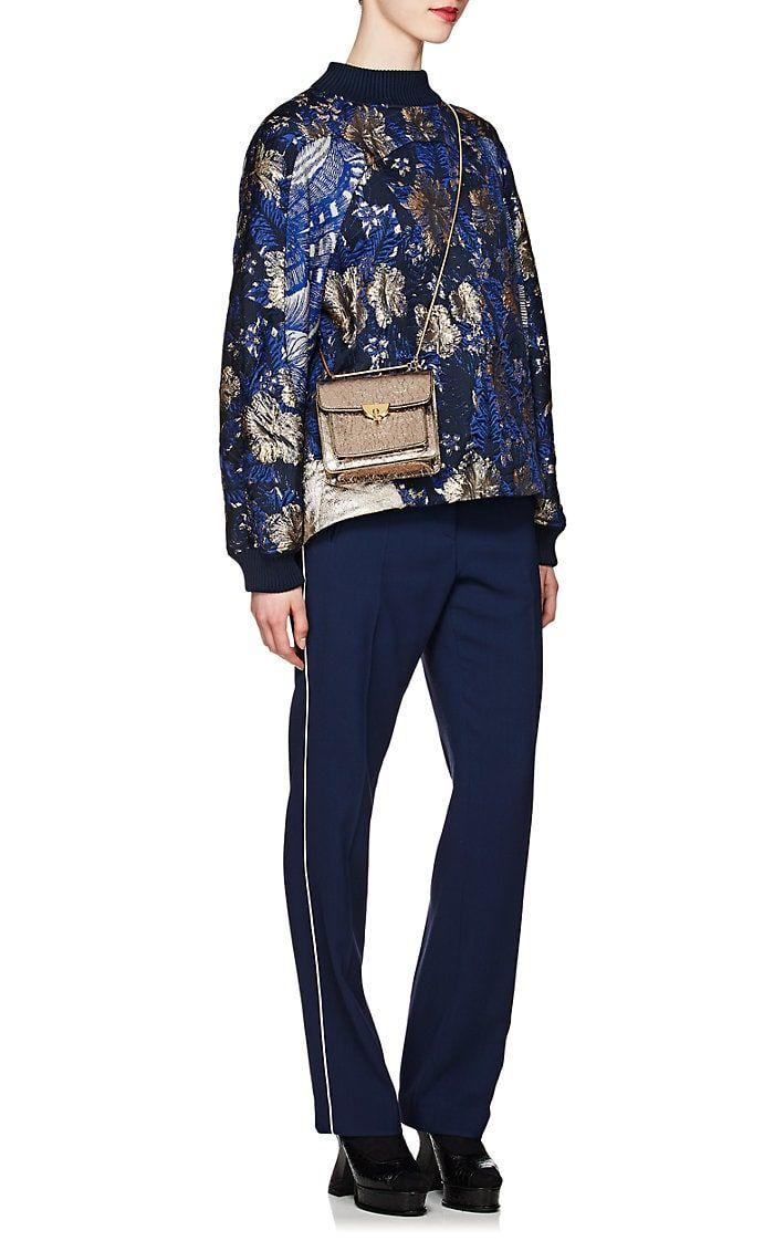 94c090c522b94e Dries Van Noten Metallic Floral Jacquard Pullover