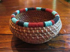 how to incorporate beads into a coiled basket - Google Search