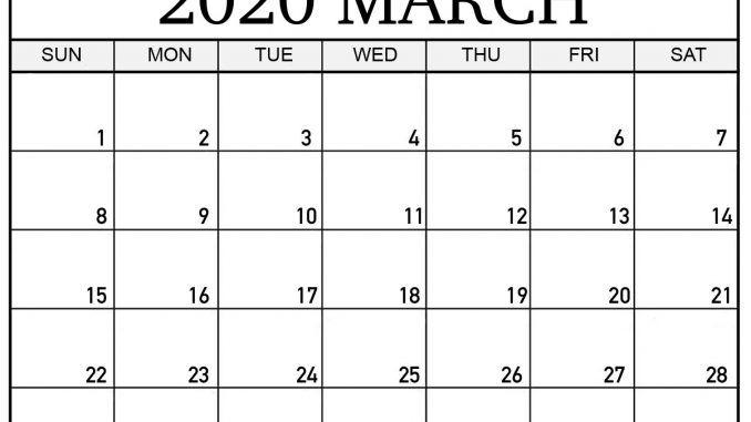 March 2020 Calendar With Holidays Us Uk Canada Australia India