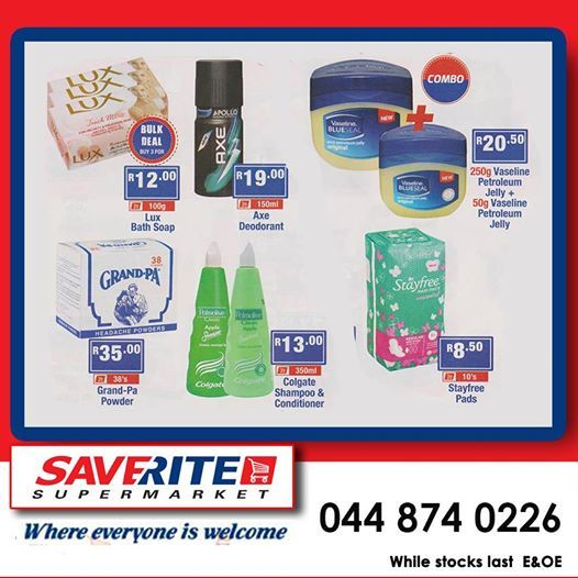 Only a few days left to cash in on these specials in our toiletry department. Saverite Supermarket York Street brings you the biggest range at exceptional prices this April. Don't delay get down to the store today. #supermarket #essentials #groceries