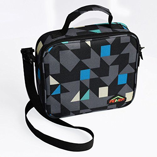 Lunch Bag Insulated Lunch Bags Tote Diamond Sturdy Oxford Bag With Mess Pocket, Two Way Zip Closures Cooler Bag Great for Kids,Men,Ladies