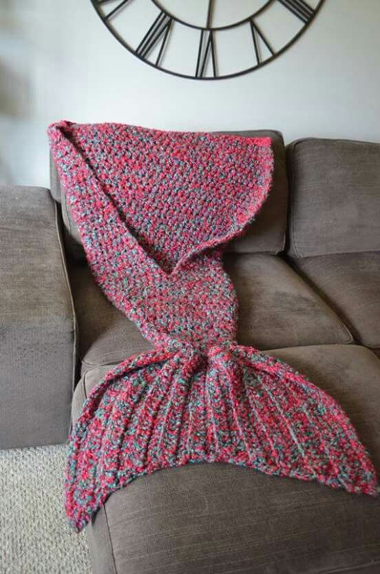 We Need This Crocheted Mermaid Tail Blanket Immediately