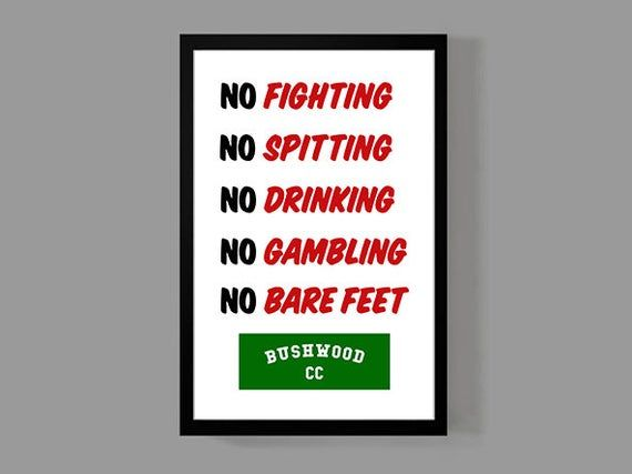 Caddyshack Rules Sign – Caddyshack Poster – Movie Poster – Funny Golf Poster Print Sign, Comedy, Hom