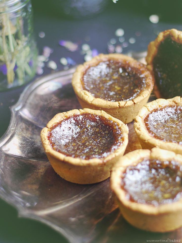 Butter Tarts (Free from: gluten, dairy, eggs, refined sugar, corn, and added oils)