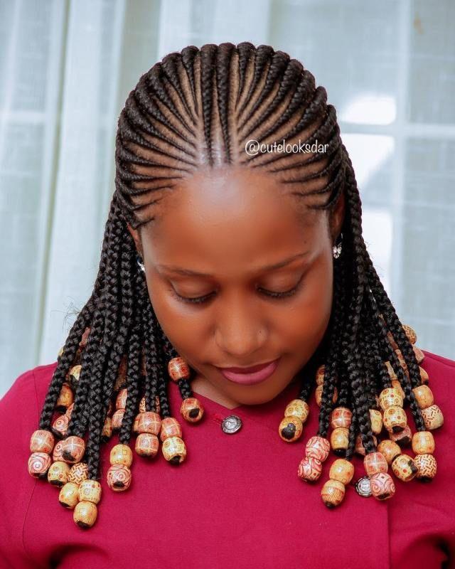 Trending Ghana Weaving Styles 2018 That Are So Cute Hair Styles Braid Styles Braided Hairstyles