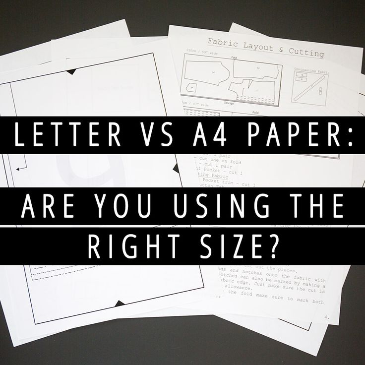 Letter vs a4 paper are you using the right size sewing for Letter paper size