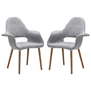 Edgemod The Barclay Light Grey Organic Style Dining Arm Chair