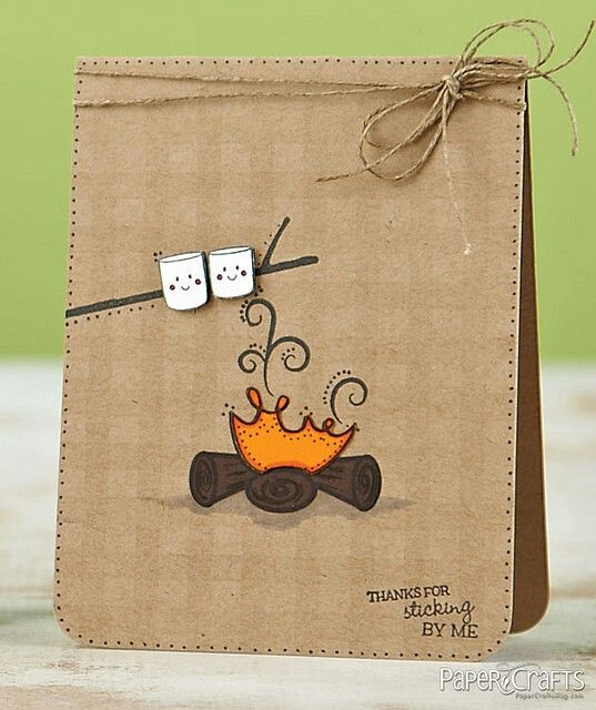 A Card For Inviting Friends For Camping Trips..