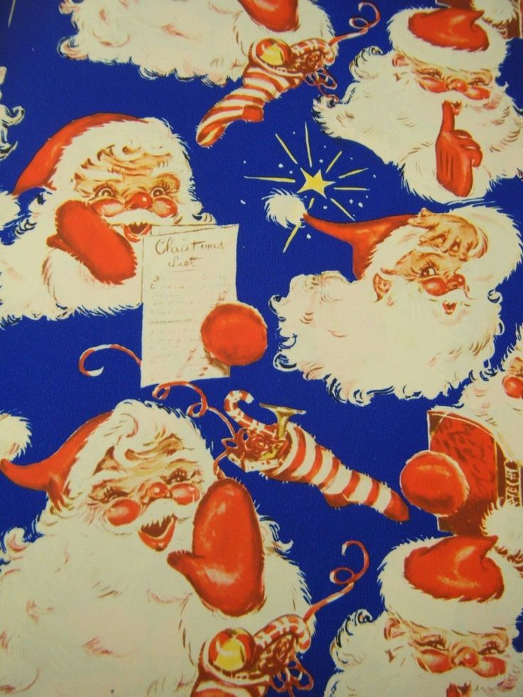 Vintage 1953 CHRISTMAS Holiday Gift Wrap by TreasureHuntressNora