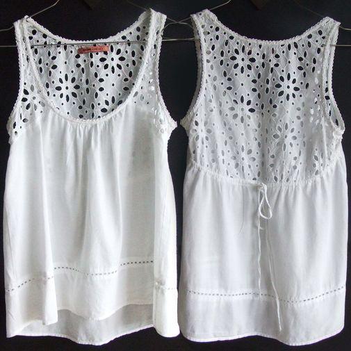 Blusa de algodón y bordado - Chicfy                                                                                                                                                      Más