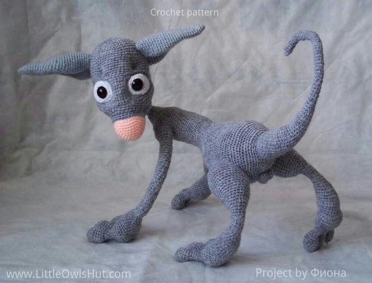 Project by Фиона. Hairless Cat Filimon. Crochet pattern by Astashova for LittleOwlsHut#LittleOwlsHut, #Amigurumi, #Astashova, #CrochetPattern, #Cat, #DIY, #Pattern, #Toy