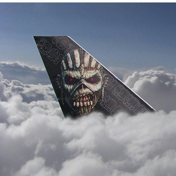 Iron Maiden , cool tail section .