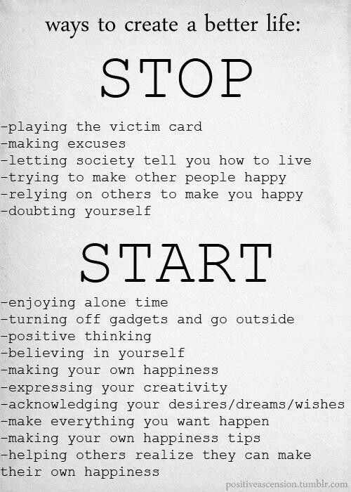Positive vibes ~ stop doing . start believing