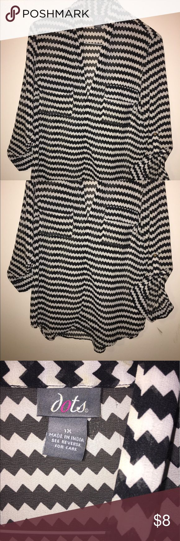 Women's Top Women's Black and white top Tops Blouses