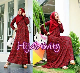 Beauty of Roses (Red)..bhn JERSEY PREMIUM High Quality.. Tanpa Pashmina LD s/d 110cm...@184rb yfd05