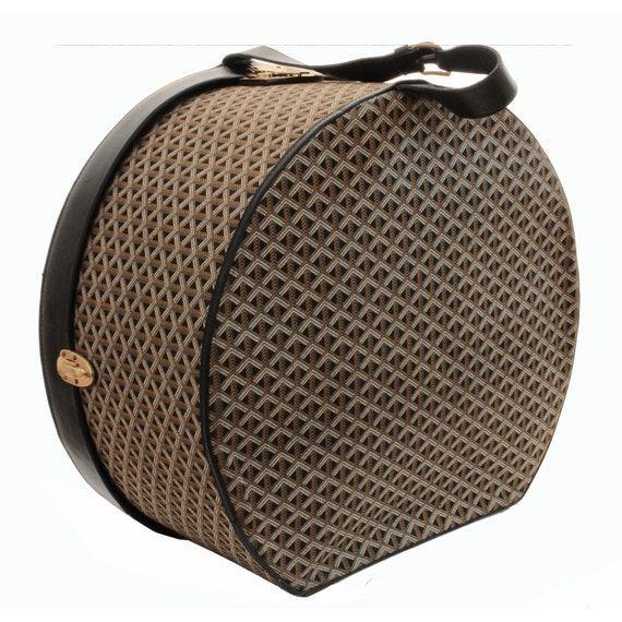 Goyard Round Hat Box Xl Travel Luggage Linen Goyardine Black Hat Box Luxury Hats Round Hat