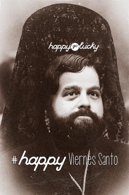 happy go lucky les desea un feliz Viernes  Santo