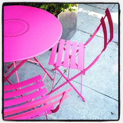Hot pink outdoor furniture...umm YES PLEASE