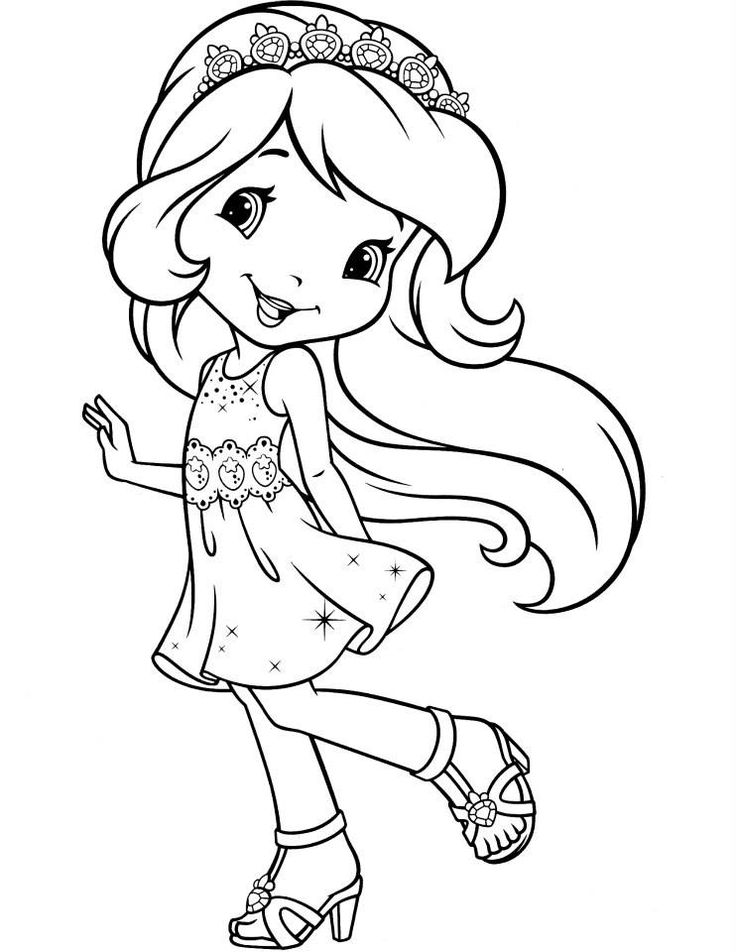 christmas strawberry shortcake coloring pages - photo#4