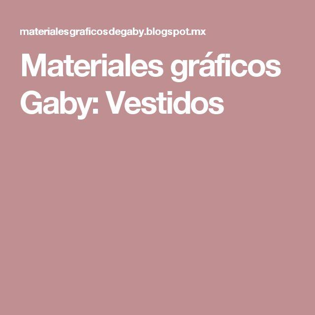 Materiales gráficos Gaby: Vestidos