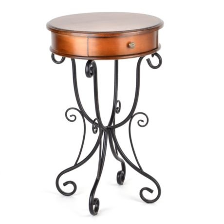 Round Scrolled Accent Table