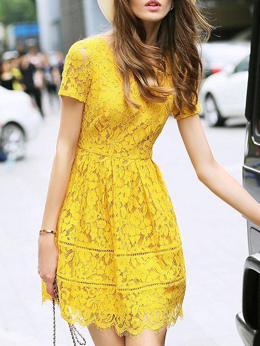 http://de.shein.com/Yellow-Crew-Neck-A-Line-Lace-Dress-p-283215-cat-1885.html