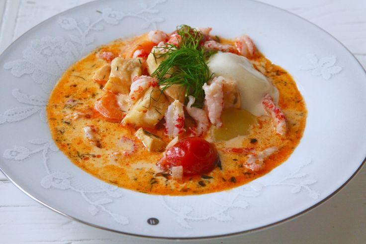 Soppa med torsk & lax | Jennys Matblogg