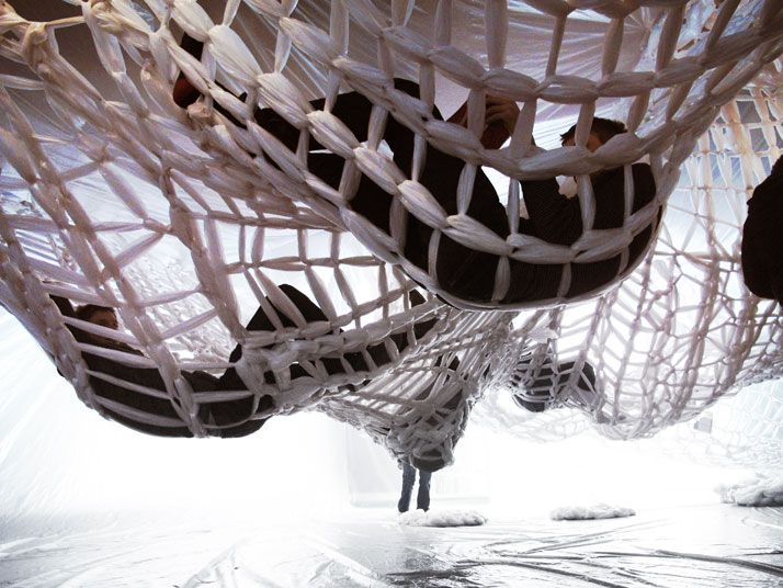 22 Dreamy Art Installations You Want To Live In  Woven Installation by Studio 400