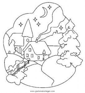 landschaften 27 gratis malvorlage in weihnachten, weihnachtslandschaften - ausmalen