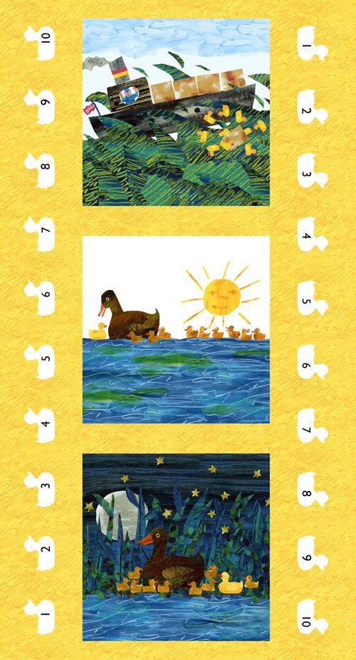 Eric Carle 10 Little Rubber Ducks Duck Multi by luckykaerufabric,shower curtain
