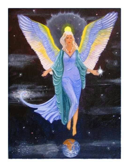 Angel. Acrylic on canvas by Norman Sumpton