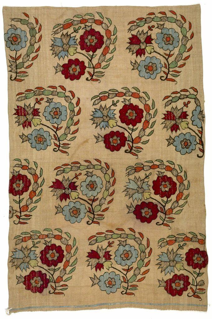 Embroidery on linen Textile Anatolian , 19th century Creation Place: Turkey…