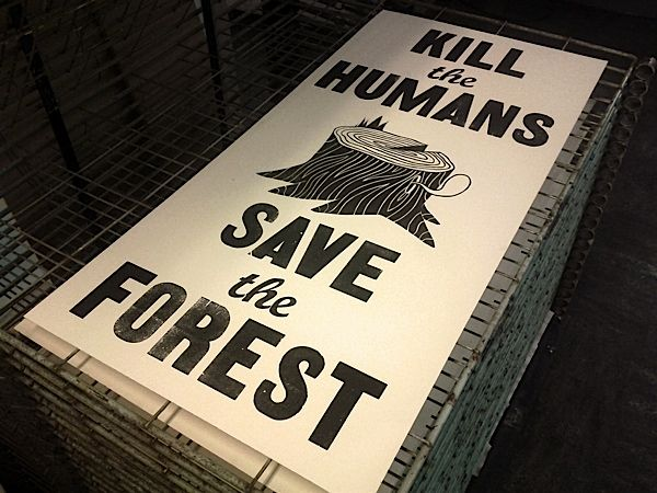"""brilliant to create """"kill human ads"""" on paper... which kills more trees lol"""