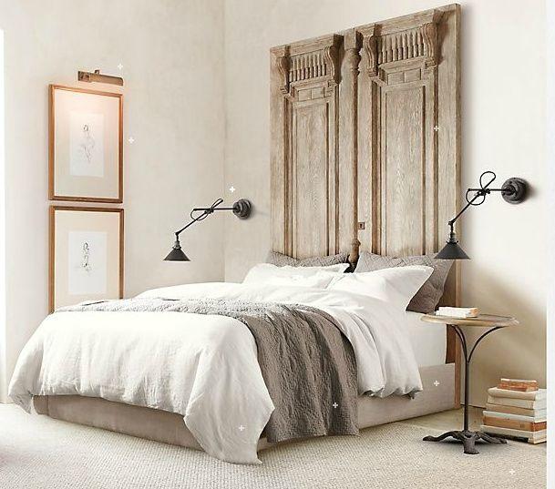 les 25 meilleures id es de la cat gorie portes en t tes de lit sur pinterest portes de. Black Bedroom Furniture Sets. Home Design Ideas