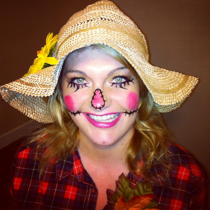 Copied Scarecrow Makeup From A Gorgeous Girl On Pinterest Turned Out Pretty Good! Happy ...