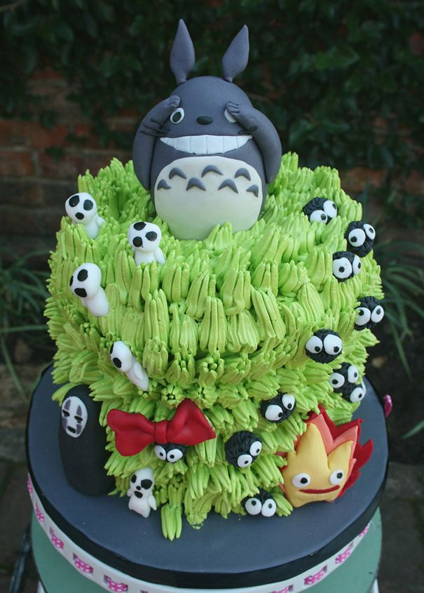 300 Best Totoro Cakes Images By Pat Korn On Pinterest