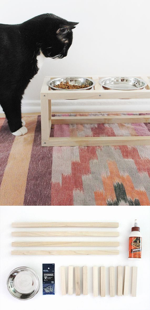 Moderno comedero para mascotas / http://www.almostmakesperfect.com/