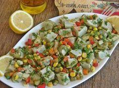 Enginar Salatası Tarifi (Resimli Anlatım)   Kolay ve Pratik Resimli Yemek Tarifleri   Göbeğim