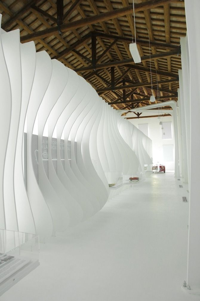 via BKLYN contessa :: dimensional + linear + texture :: incorporate graphic shape {palms} :: crisp white
