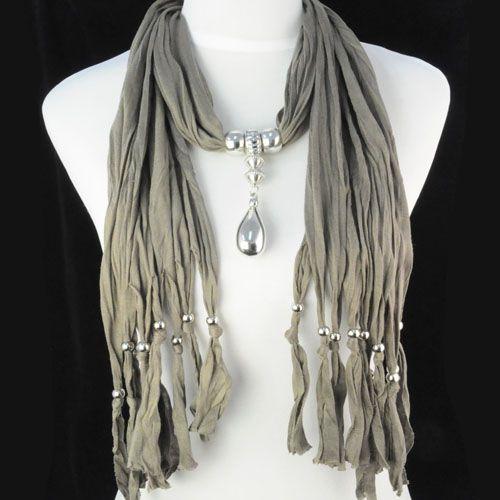 scarf necklaces ,NL-1221G Scarf Wholesale Necklaces 