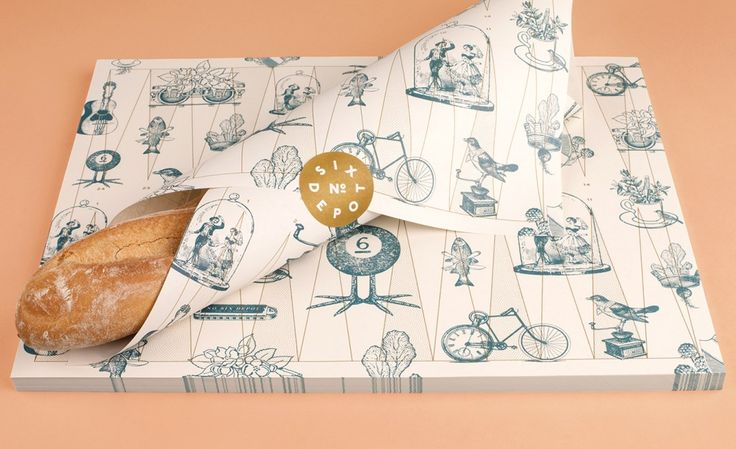 greaseproof paper  sticker - this is nice! Also like the colours - L