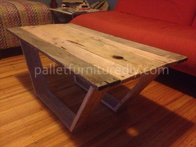 Diy Modern Pallet Coffee Table Repurposed Pallet