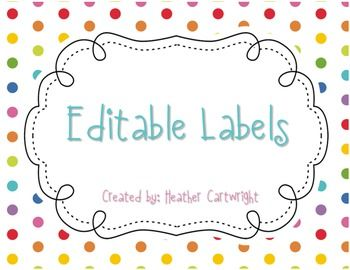 These labels are perfect for your classroom!! The possibilities are endless! Use these to label notebooks, student numbers, lunch choices, cubbies, etc...Download this FREEBIE today!