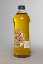 Joseph Beuys, Published by Edizioni Lucrezia De Domizio Durini, Oil Bottle, 1984, Original Language Title: Ölflasche, Bottle of olive oil, printed gold label, small white label, 26 x 8 x 8 cm (10 1/4 x 3 1/8 x 3 1/8 in.) Schellmann 504B, p. 374, 1 / 12