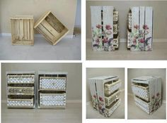 Cajas de madera de verduras